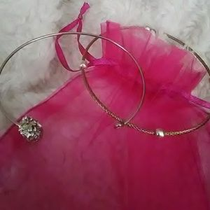 Pineapple Silvertone Bracelet + Bonus Bracelet